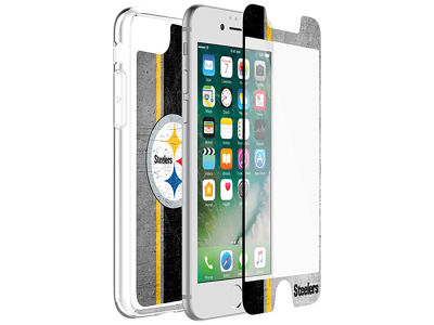Pittsburgh Steelers OtterBox iPhone Alpha Glass Protector With Clear Case