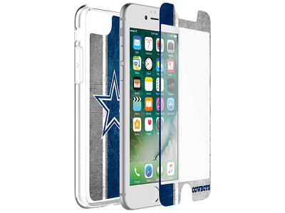 Dallas Cowboys OtterBox iPhone Alpha Glass Protector With Clear Case