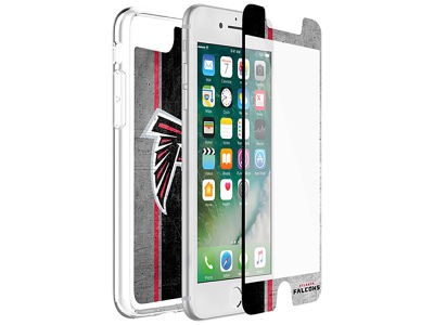 Atlanta Falcons OtterBox iPhone Plus Alpha Glass Protector With Clear Case
