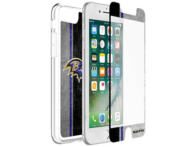 Baltimore Ravens OtterBox iPhone Plus Alpha Glass Protector With Clear Case