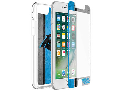 Carolina Panthers OtterBox iPhone Plus Alpha Glass Protector With Clear Case