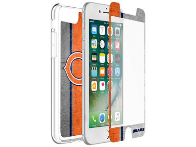 Chicago Bears OtterBox iPhone Plus Alpha Glass Protector With Clear Case