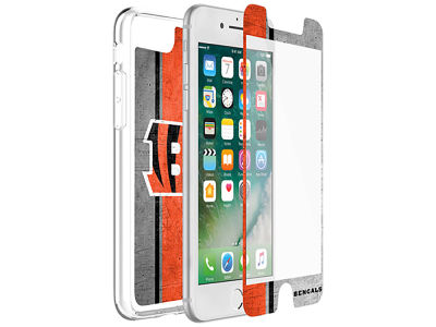 Cincinnati Bengals OtterBox iPhone Plus Alpha Glass Protector With Clear Case