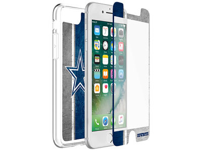 Dallas Cowboys OtterBox iPhone Plus Alpha Glass Protector With Clear Case