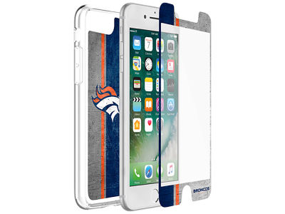 Denver Broncos OtterBox iPhone Plus Alpha Glass Protector With Clear Case