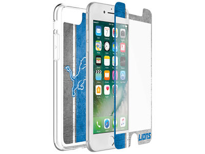 Detroit Lions OtterBox iPhone Plus Alpha Glass Protector With Clear Case