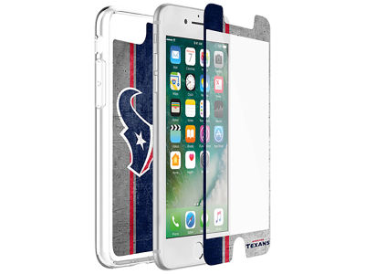 Houston Texans OtterBox iPhone Plus Alpha Glass Protector With Clear Case