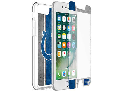 Indianapolis Colts OtterBox iPhone Plus Alpha Glass Protector With Clear Case