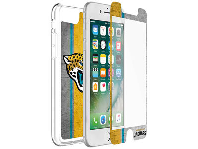 Jacksonville Jaguars OtterBox iPhone Plus Alpha Glass Protector With Clear Case