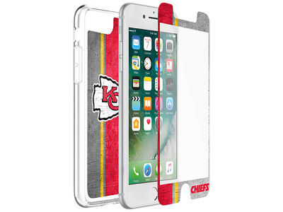 Kansas City Chiefs OtterBox iPhone Plus Alpha Glass Protector With Clear Case