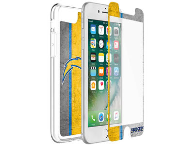 Los Angeles Chargers OtterBox iPhone Plus Alpha Glass Protector With Clear Case