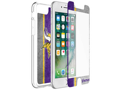 Minnesota Vikings OtterBox iPhone Plus Alpha Glass Protector With Clear Case