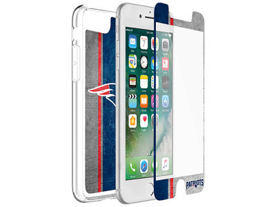 New England Patriots OtterBox iPhone Plus Alpha Glass Protector With Clear Case