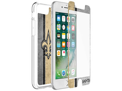 New Orleans Saints OtterBox iPhone Plus Alpha Glass Protector With Clear Case