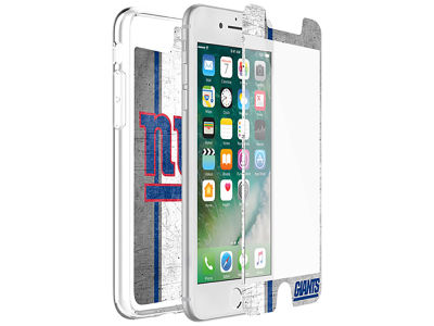 New York Giants OtterBox iPhone Plus Alpha Glass Protector With Clear Case