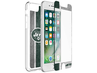 New York Jets OtterBox iPhone Plus Alpha Glass Protector With Clear Case