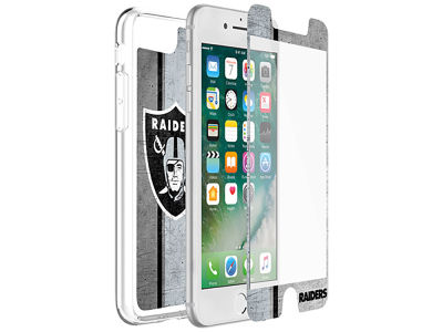 Oakland Raiders OtterBox iPhone Plus Alpha Glass Protector With Clear Case