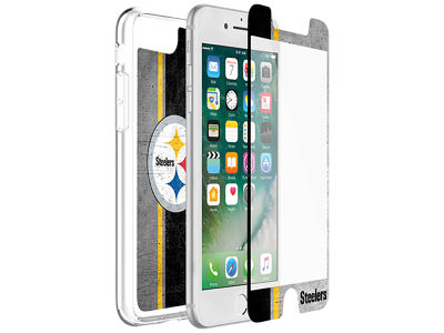 Pittsburgh Steelers OtterBox iPhone Plus Alpha Glass Protector With Clear Case