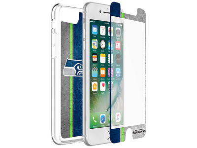 Seattle Seahawks OtterBox iPhone Plus Alpha Glass Protector With Clear Case