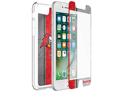 Tampa Bay Buccaneers OtterBox iPhone Plus Alpha Glass Protector With Clear Case