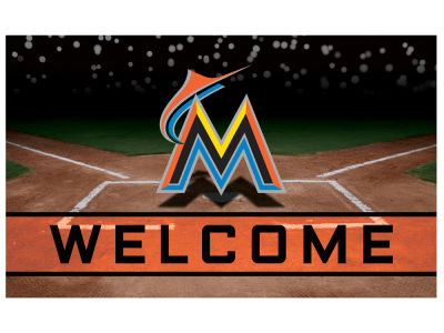 Miami Marlins Fan Mats Crumb Rubber Door Mat