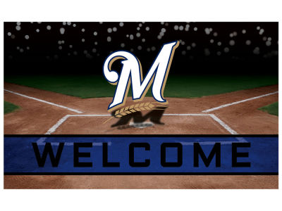 Milwaukee Brewers Fan Mats Crumb Rubber Door Mat
