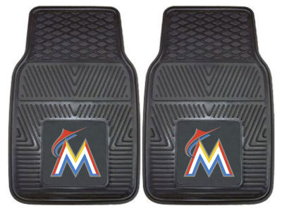 Miami Marlins Fan Mats 2 Piece Vinyl Car Mat Set
