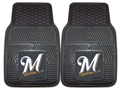 Milwaukee Brewers Fan Mats 2 Piece Vinyl Car Mat Set