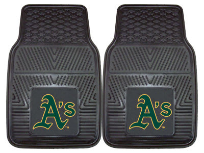 Oakland Athletics Fan Mats 2 Piece Vinyl Car Mat Set