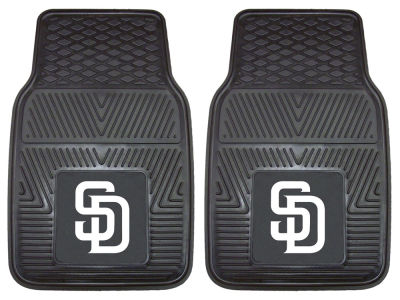 San Diego Padres Fan Mats 2 Piece Vinyl Car Mat Set