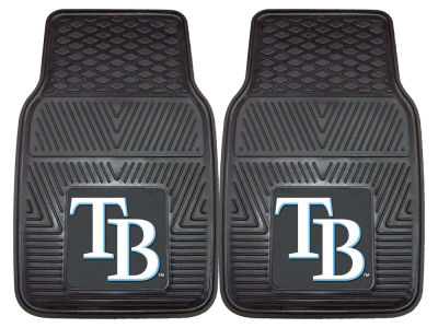 Tampa Bay Rays Fan Mats 2 Piece Vinyl Car Mat Set