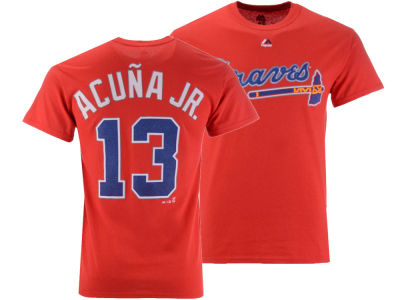 Atlanta Braves Ronald Acuna Majestic MLB Men's Official Player T-Shirt
