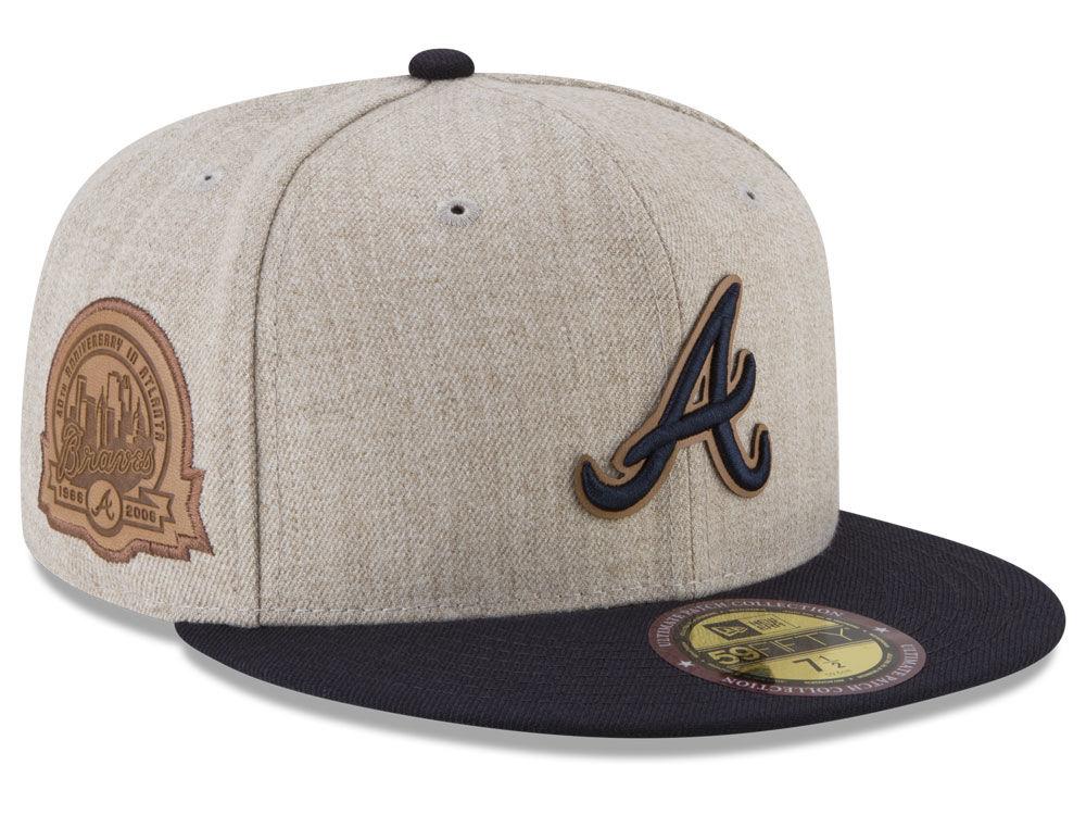 7b23c44bda7 Atlanta Braves New Era MLB Leather Ultimate Patch Collection 59FIFTY Cap