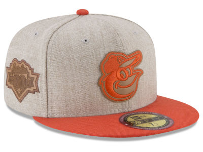 Baltimore Orioles New Era MLB Leather Ultimate Patch Collection 59FIFTY Cap
