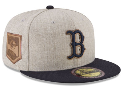 Boston Red Sox New Era MLB Leather Ultimate Patch Collection 59FIFTY Cap