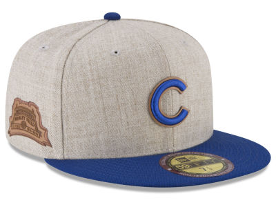 Chicago Cubs New Era MLB Leather Ultimate Patch Collection 59FIFTY Cap