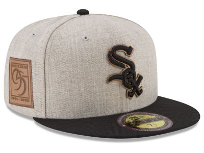 Chicago White Sox New Era MLB Leather Ultimate Patch Collection 59FIFTY Cap