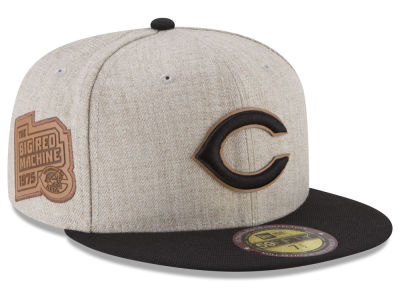 Cincinnati Reds New Era MLB Leather Ultimate Patch Collection 59FIFTY Cap