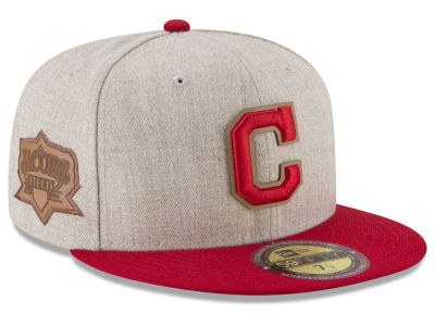 Cleveland Indians New Era MLB Leather Ultimate Patch Collection 59FIFTY Cap