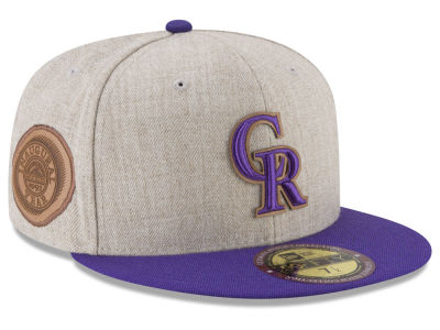 Colorado Rockies New Era MLB Leather Ultimate Patch Collection 59FIFTY Cap