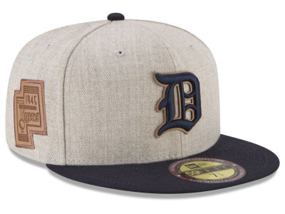 Detroit Tigers New Era MLB Leather Ultimate Patch Collection 59FIFTY Cap