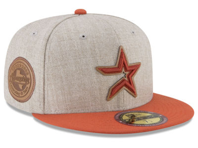 Houston Astros New Era MLB Leather Ultimate Patch Collection 59FIFTY Cap