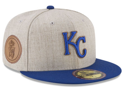 Kansas City Royals New Era MLB Leather Ultimate Patch Collection 59FIFTY Cap
