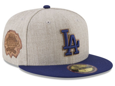 71ae836bec6 Los Angeles Dodgers New Era MLB Leather Ultimate Patch Collection 59FIFTY  Cap