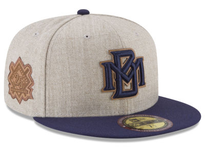 Milwaukee Brewers New Era MLB Leather Ultimate Patch Collection 59FIFTY Cap
