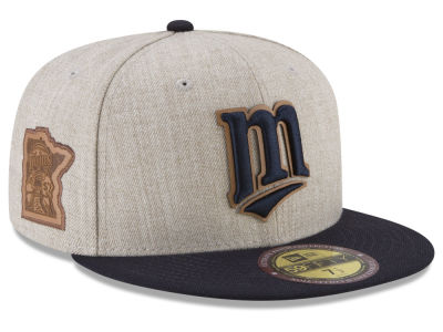 Minnesota Twins New Era MLB Leather Ultimate Patch Collection 59FIFTY Cap