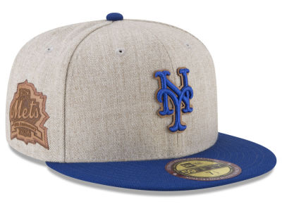 New York Mets New Era MLB Leather Ultimate Patch Collection 59FIFTY Cap