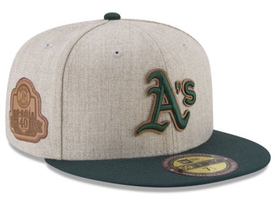Oakland Athletics New Era MLB Leather Ultimate Patch Collection 59FIFTY Cap