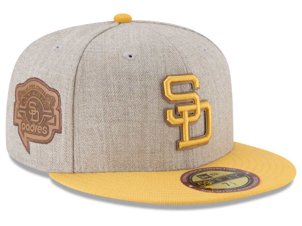 San Diego Padres New Era MLB Leather Ultimate Patch Collection 59FIFTY Cap   389e60b2d1a5