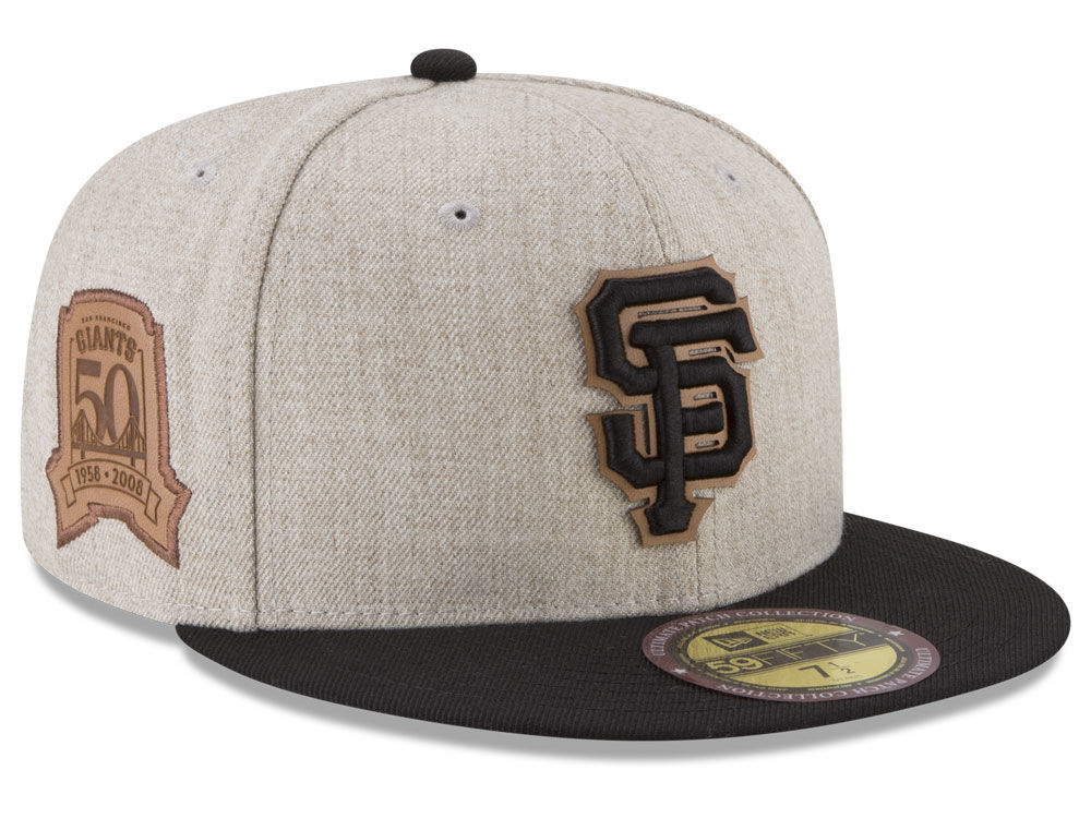 5d9b956626f San Francisco Giants New Era MLB Leather Ultimate Patch Collection 59FIFTY  Cap